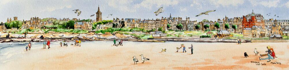 Original Watercolour 'St.Andrews West Sands'