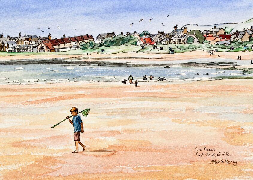 Print 'Elie Beach'... £25