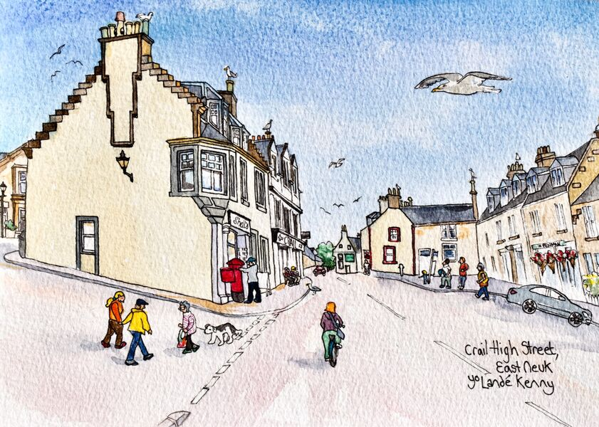 Print 'Crail High Street'... £25