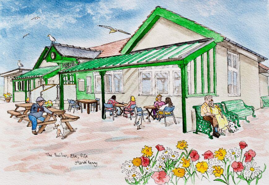 Original Watercolour 'The Pavillion, Elie'... £125