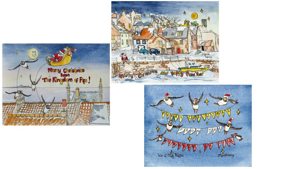 Christmas Fife Cards montage