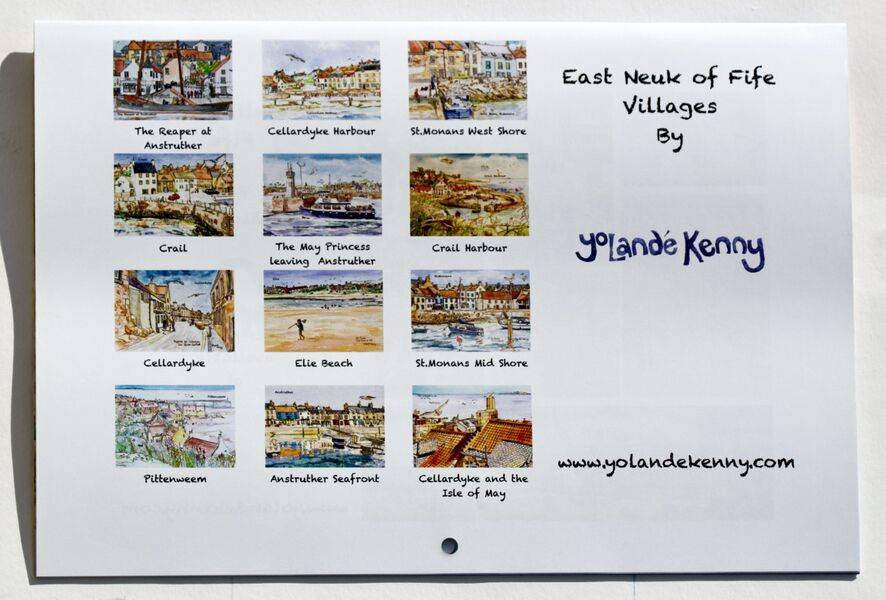 2021 East Neuk Villages Calendar, Back Cover.