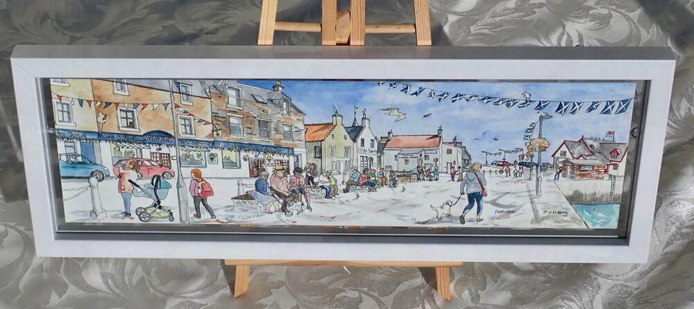 Framed Original Watercolour 'Anstruther's Shore Street' 2