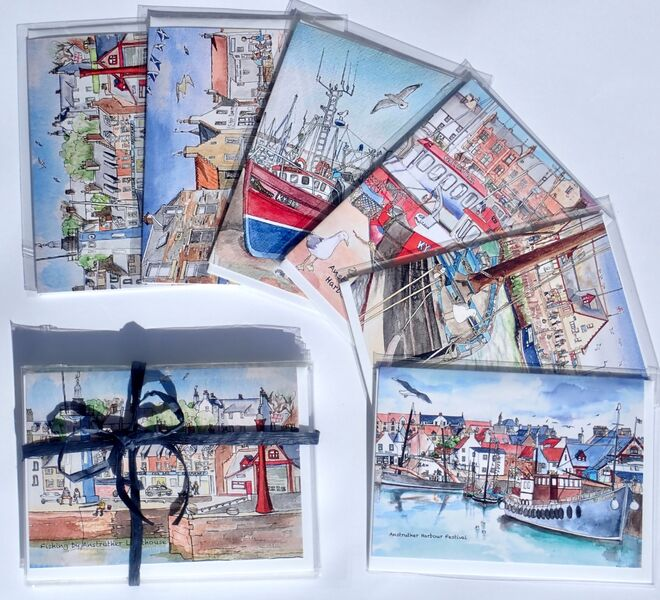 Pack of 6 Anstruther Greeting Cards (Set 1)... £12