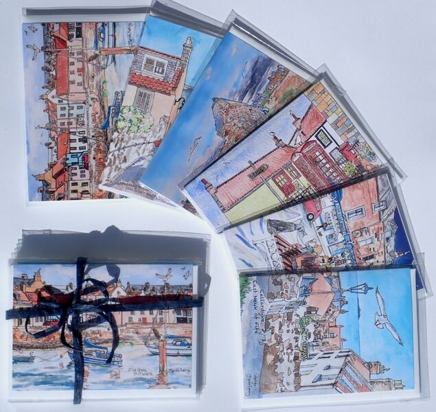 Pack of 6 East Neuk Villages Greeting Cards (Set 2)... £12