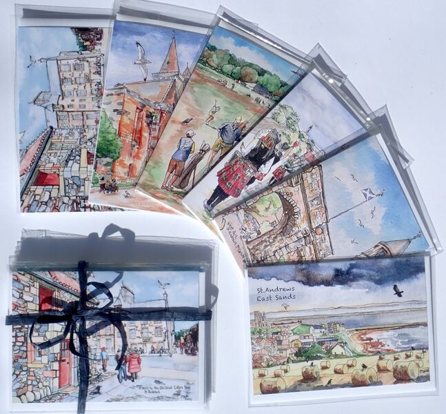 Pack of 6 St.Andrews Greeting Cards.. £12