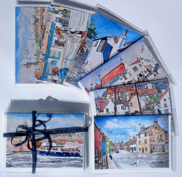 Pack of 6 Anstruther Greeting Cards (Set 2)... £12