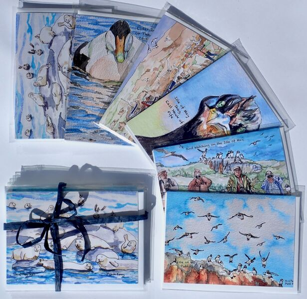 Pack of 6 Isle of May Greeting Cards.. £12