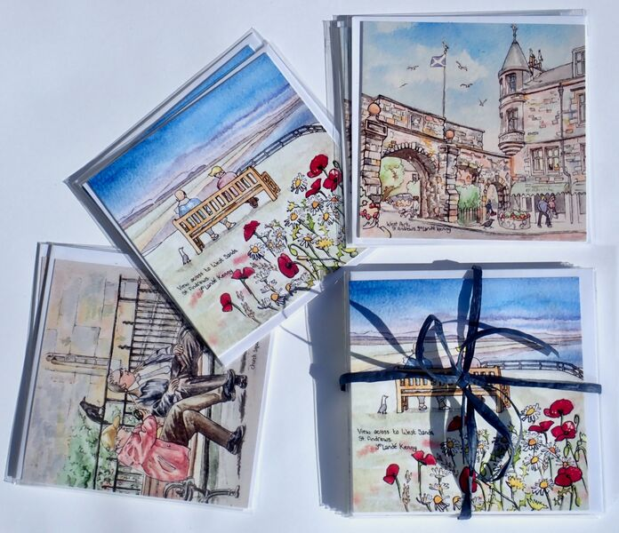 Pack of 6 St.Andrews square cards... £12