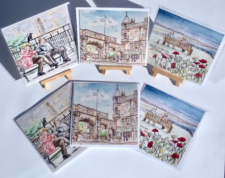 Pack of St.Andrews square cards 2