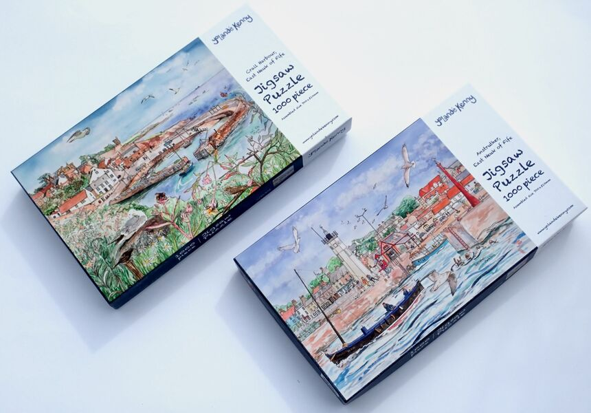 Easter Special Offer of both Crail and Anstruther Jigsaws.. £49