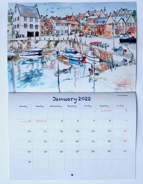 2022 East neuk of Fife & St.Andrews Calendar. 2 inside