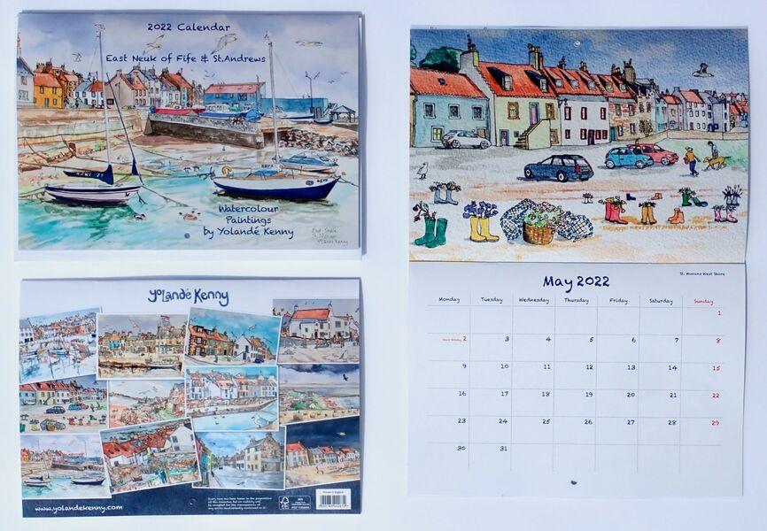 2022 East Neuk of Fife & St.Andrews Calendar.. £12.50