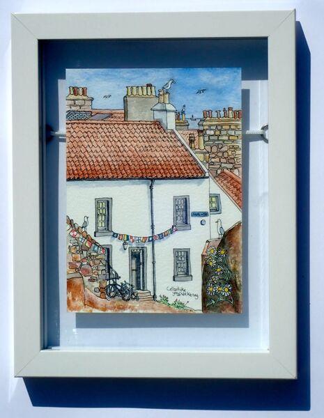 Framed Original of Shore Wynd, Cellardyke.. £85