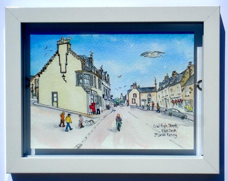 Framed Original of Crail High Street £85