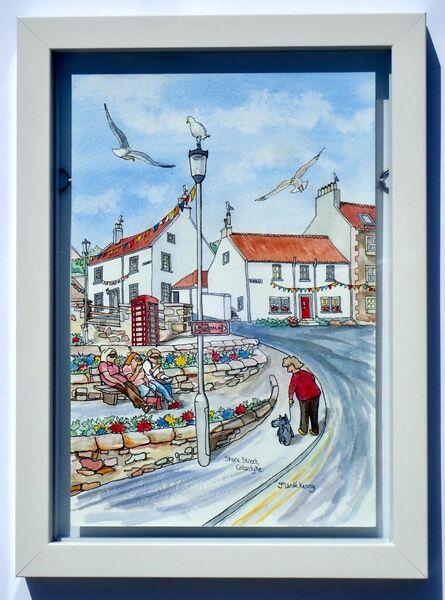 Framed Original of Shore Street, Cellardyke £125