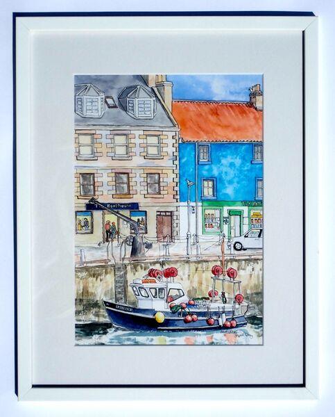 Framed Original Watercolour 'Anstruther' 2