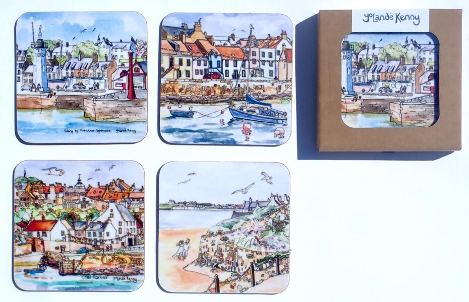 NEW DESIGN Gift boxed set of 4 Coasters... £16