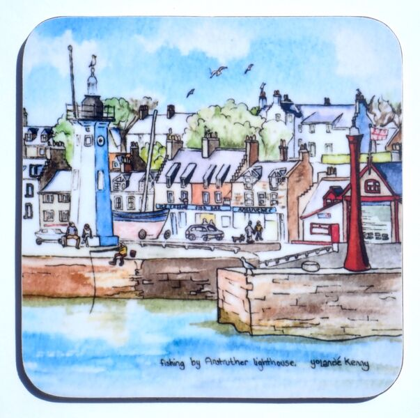 NEW DESIGN Gift boxed set of 4 Coasters Anstruther3