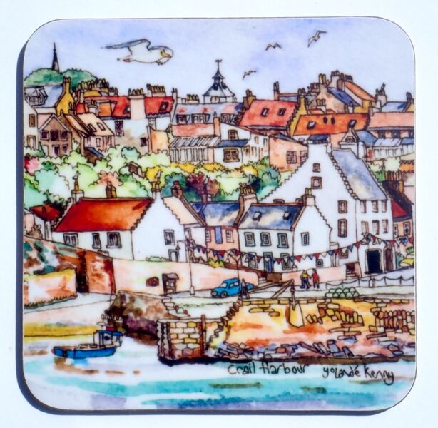 NEW DESIGN Gift boxed set of 4 Coasters Crail4