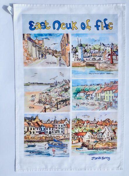 East Neuk of Fife Villages Tea Towel... £12