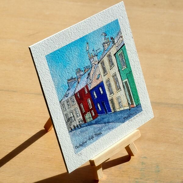 Print 'Anstruther High Street' with Display Easel... £20