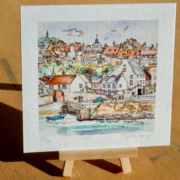 Print 'Crail Harbour' with Display Easel 2