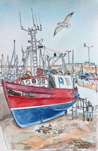 Print 'Painting Shalimar at Anstruther'... £25