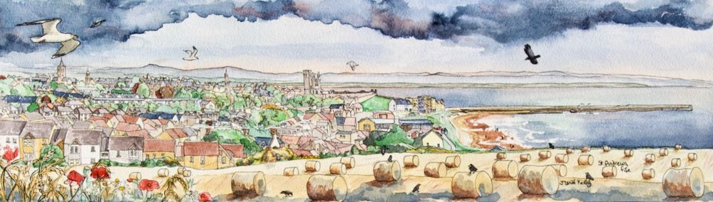 Print 'St.Andrews East Sands' (panoramic)... £42