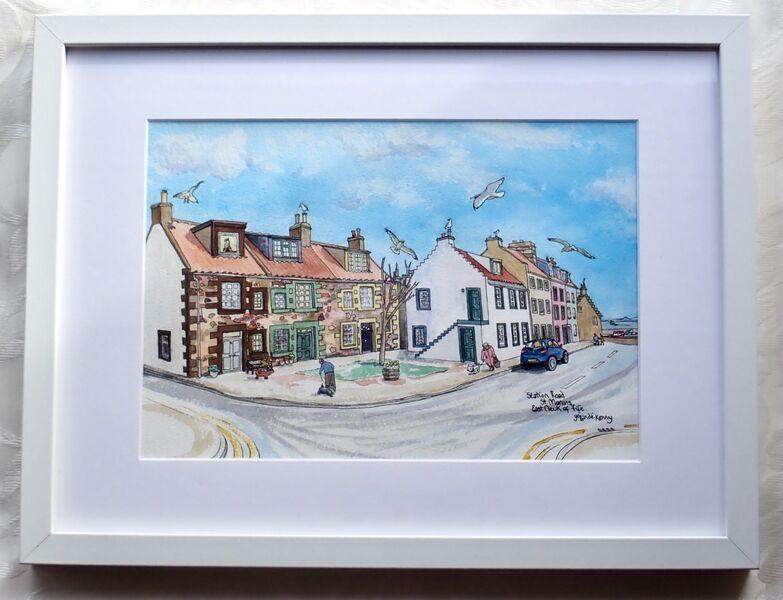 Framed Original of Station Road, St.Monans.. £155