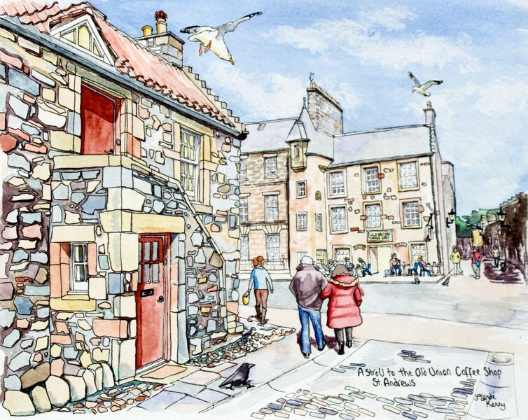 Print 'A Stroll to the Old Union Coffee Shop in St.Andrews'... £25