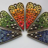 Graduated ceramic heart pendants