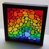 Rain bow pebble framed mosaic