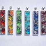 Varied rectangle pendants