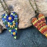 Ceramoic heart pendants
