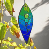 Variegated teardrop hanging