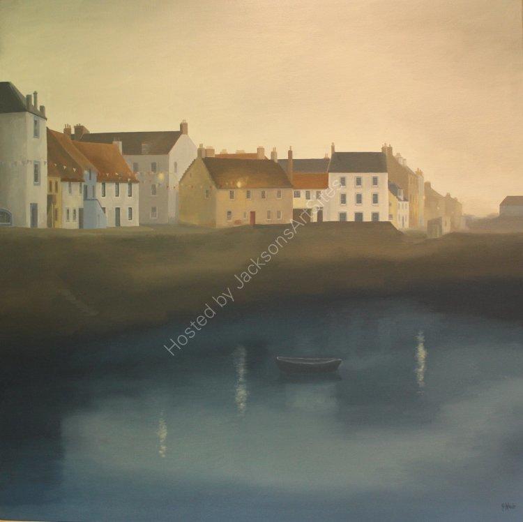 Safe harbour, St Monans. Oil on canvas. 80cm x 80cm. SOLD