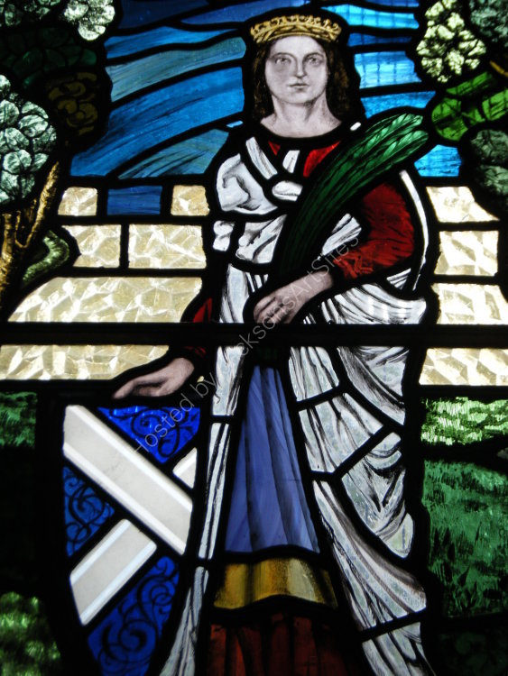 Stained glass, detail I, Tibbermore Church