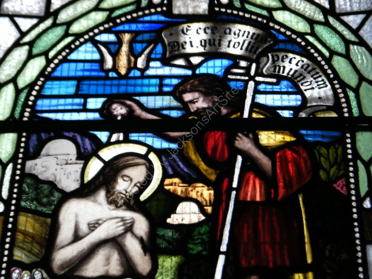 Stained glass, detail II, Tibbermore Church