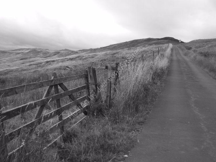 A steep climb, Glen Quaich.
