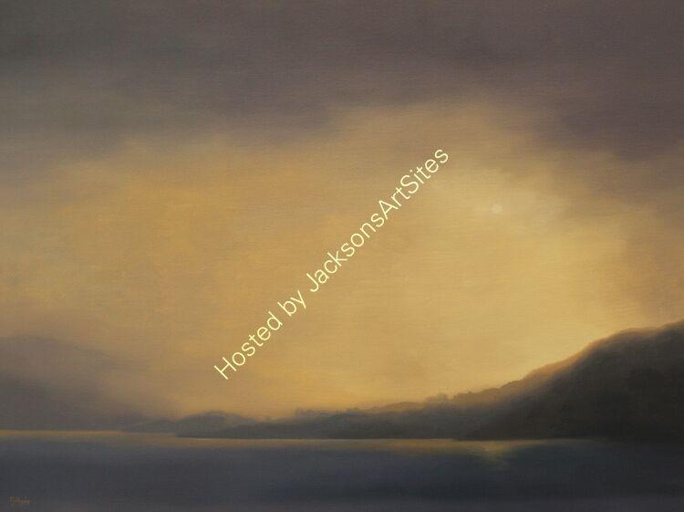 Amber light, Loch Tay. Oil on canvas. 82cm x 61cm. SOLD