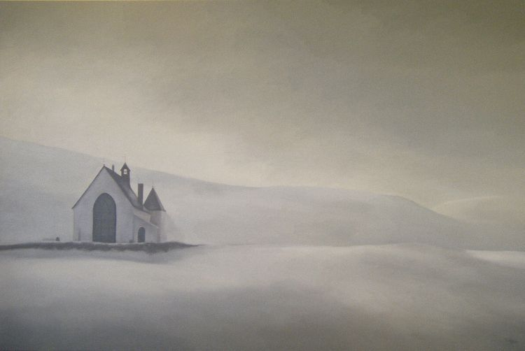 Amulree Kirk. Oil on canvas. 120cm x 80cm. SOLD