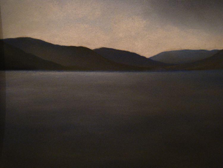 Autumn afternoon, Loch Tay.  Pastel.  54.5cm x 44.5cm (framed).  SOLD