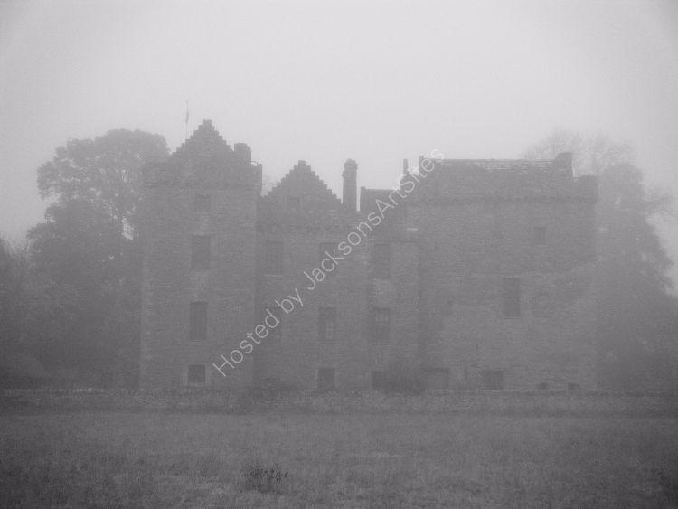 Autumn mist, Huntingtower Castle.