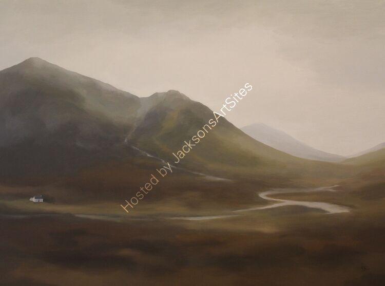 Autumn rains, Glencoe. Oil on canvas. 122cm x 91.5cm.
