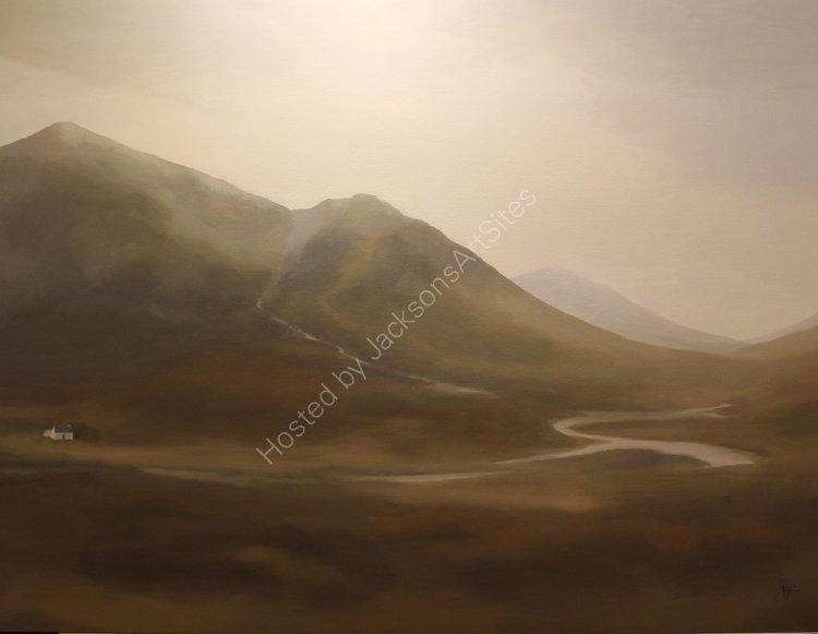 Autumn rains, Glencoe. Oil on canvas. 122cm x 91.5cm. Available.  Contact me for details.