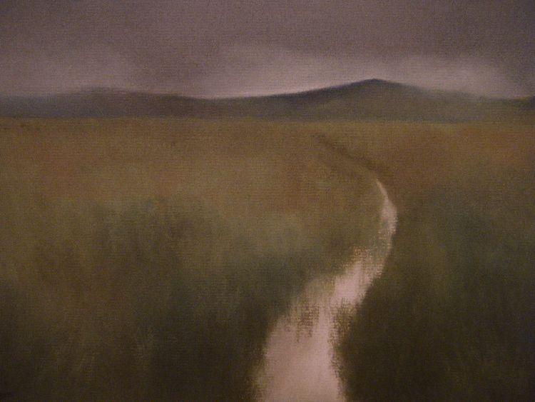 Beyond Fowlis Wester.  Pastel.  40cm  x 30.5cm (unframed)  SOLD
