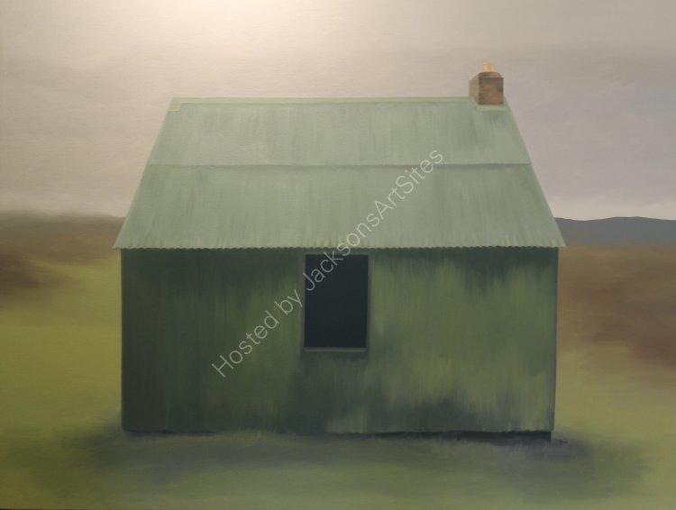 Big green bothy, Glen Quaich. Oil on canvas. 122cm x 91.5cm. SOLD