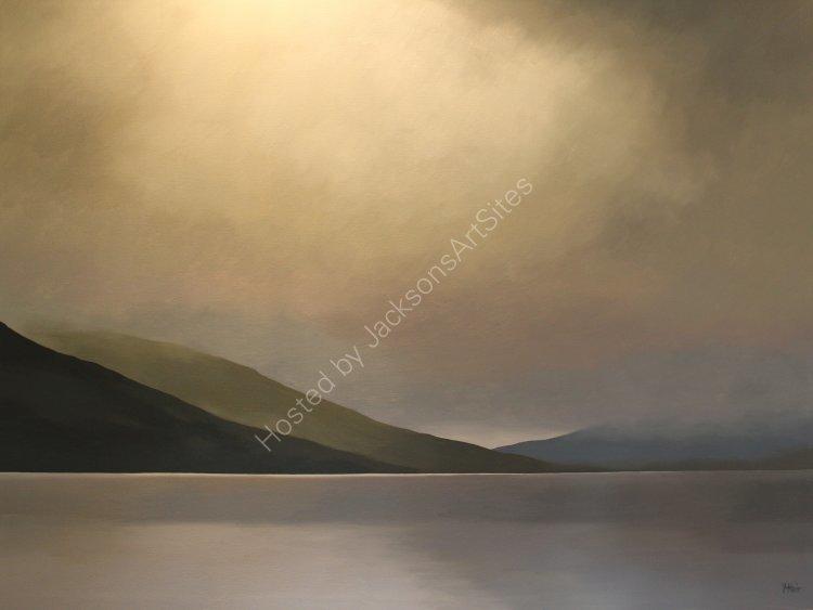 Big sky, Loch Earn.  Oil on canvas.  122cm x 91.5cm.  SOLD