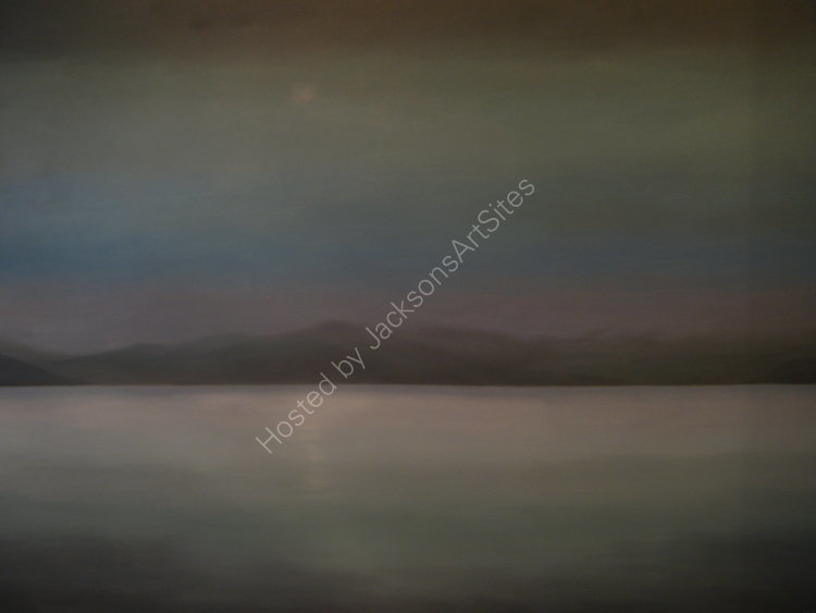 Blue moon, Loch Tay. Oil on canvas. 122cm x 91.5cm. SOLD